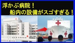 病院船の任務と種類